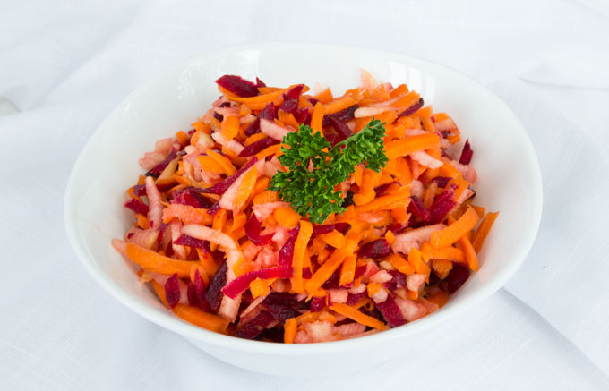 apple beet carrot slaw - healthy vegan