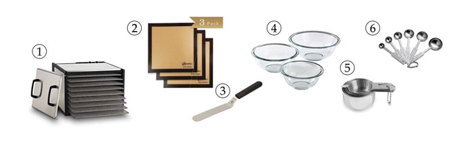 kitchen tools for raw crackers