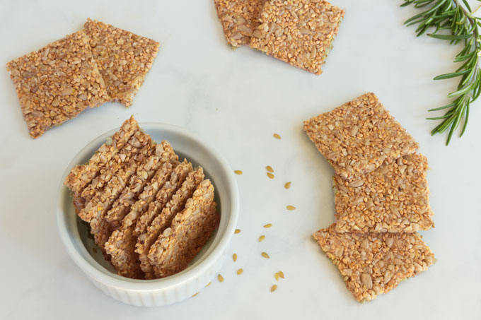 raw crackers with seeds