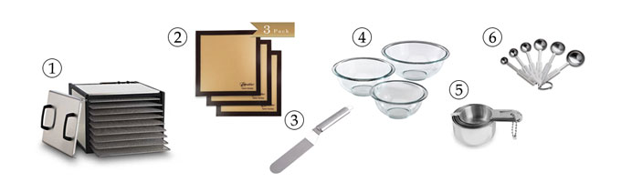kitchen tools for raw multi-seeded crackers