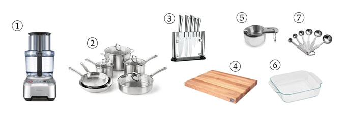 kitchen tools for raw brownies