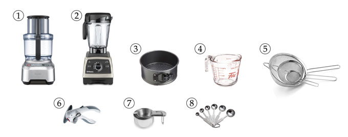 kitchen tools for raw carrot cake