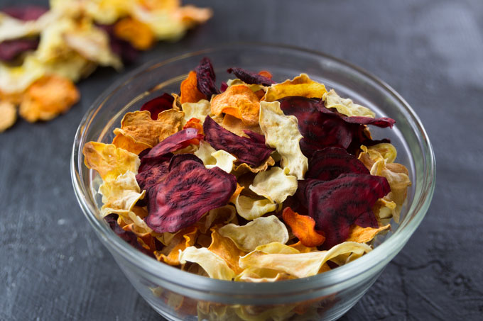 veggie chips from root vegetables