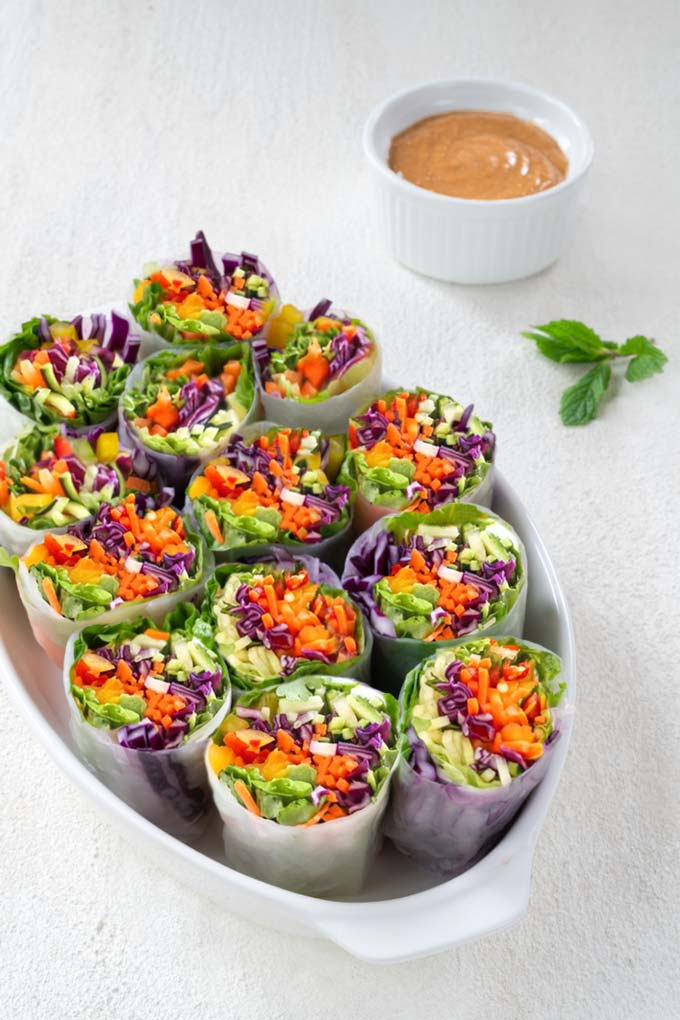 Spring Rolls with Peanut Sauce {Video}