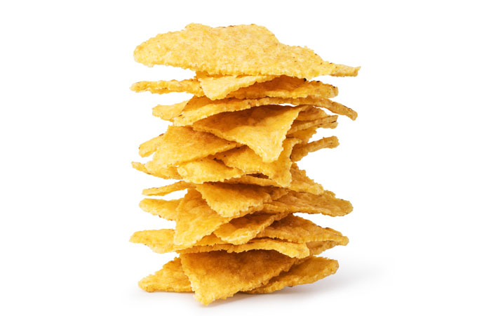 homemade baked corn chips - healthy,