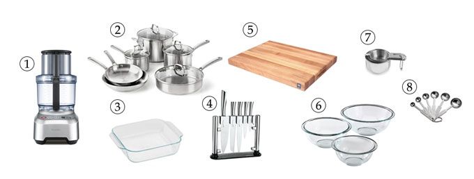 kitchen tools for granola bars with date caramel