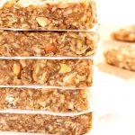 vegan granola bars with date caramel