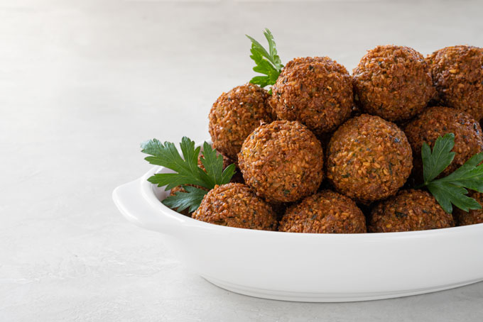 air fried falafel - vegan