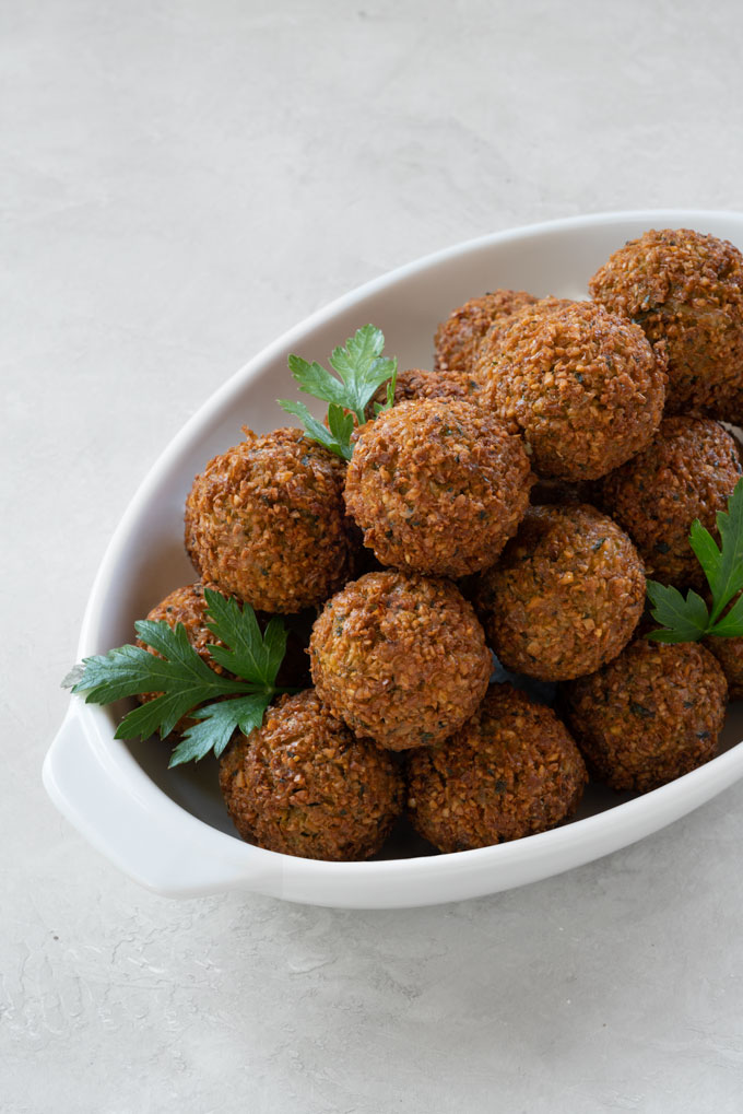 falafel - oil-free, crispy, healthy