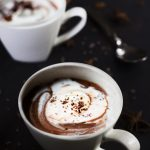 hot chocolate with whipped cream - vegan, paleo