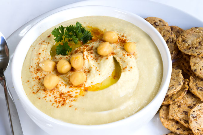 authentic Lebanese hummus from sprouted chickpeas