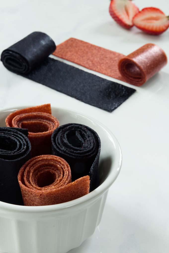 fruit leather - homemade fruit roll ups