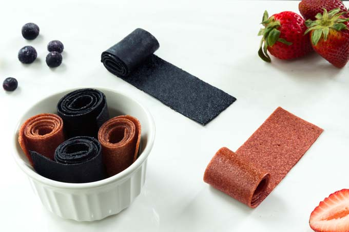 homemade fruit rolls ups - fruit leather