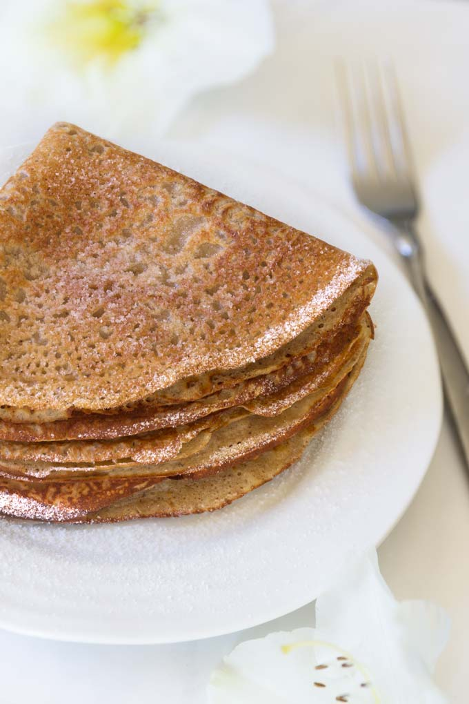 vegan and gluten-free sweet crepes