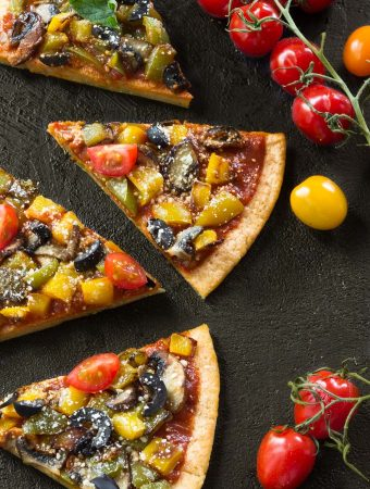 red lentil pizza crust - grain-free, vegan, healthy, easy