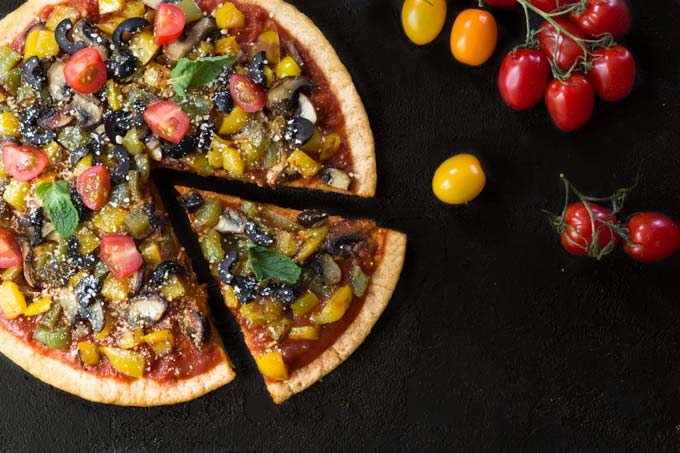 pizza crust - vegan, gluten-free, healthy