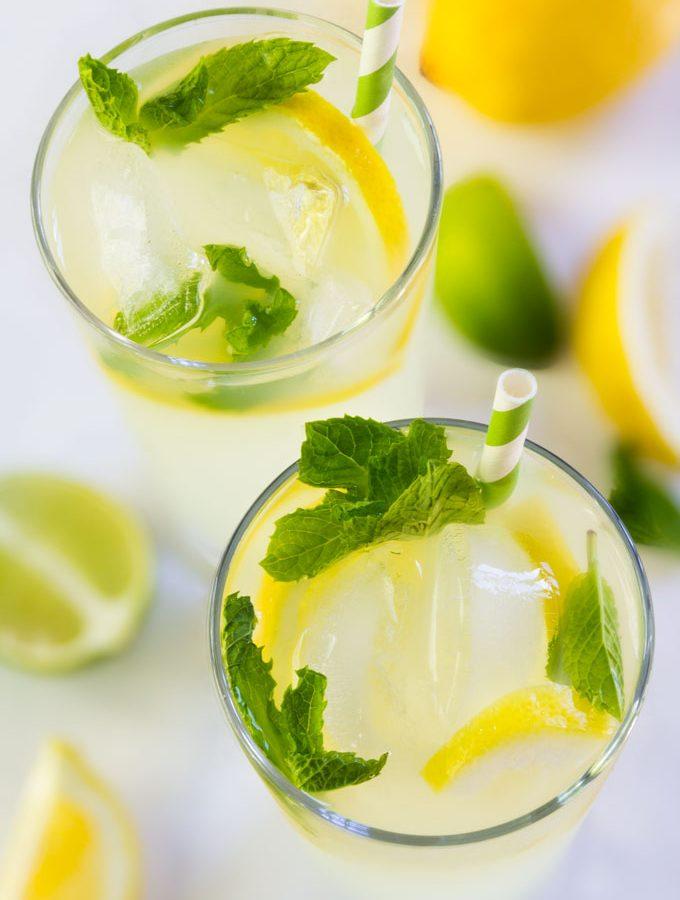 lemon mint lemonade - homemade, fresh, healthy
