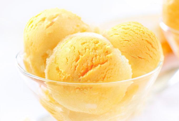 mango ice cream - sorbet, gelato, vegan, paleo, healthy