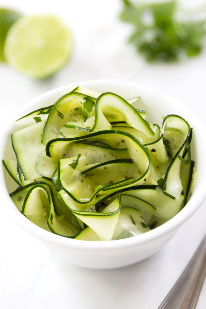 cucumber zucchini salad