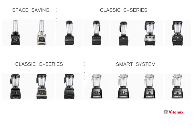 Vitamix blenders - chart