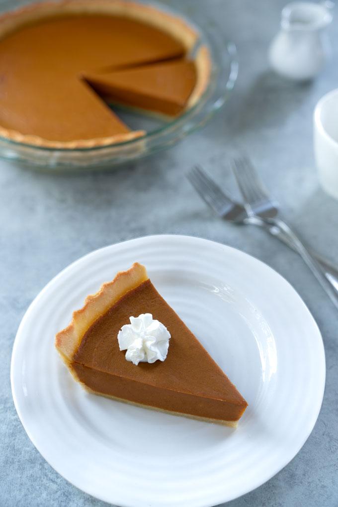 pumpkin pie - vegan, paleo, healthy