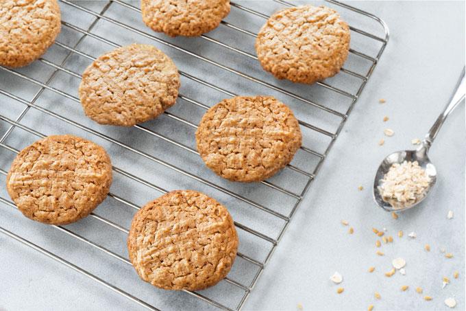 vegan, gluten-free peanut butter cookies