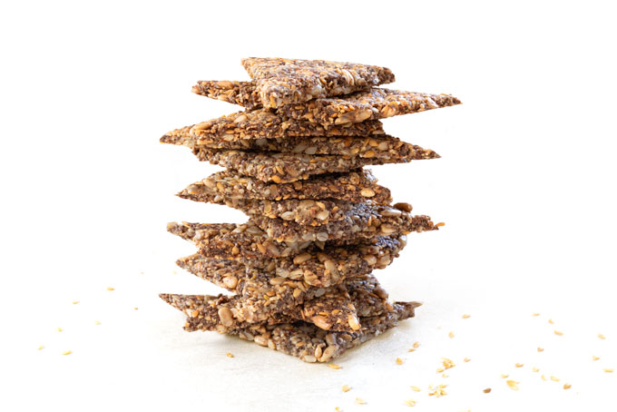 crackers with nuts and seeds - healthy, vegan, paleo, keto