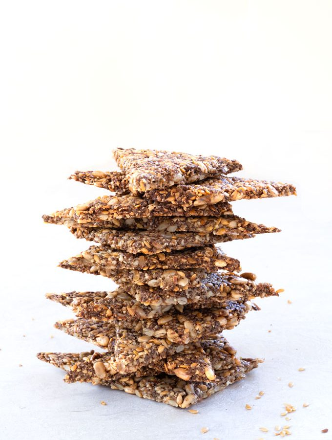 nut and seed crackers - vegan, paleo, keto