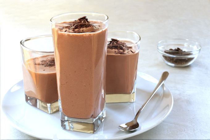 vegan frozen hot chocolate - raw, paleo