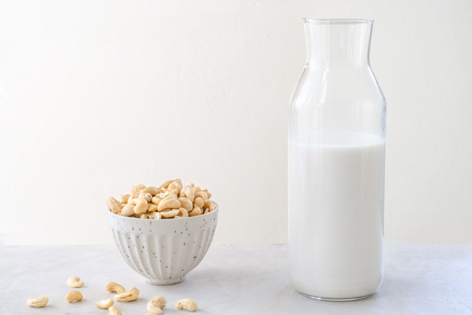 cashew milk & cashew cream (coffee creamer)