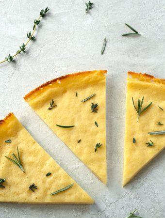 low carb pizza crust - grain-free, vegan, healthy