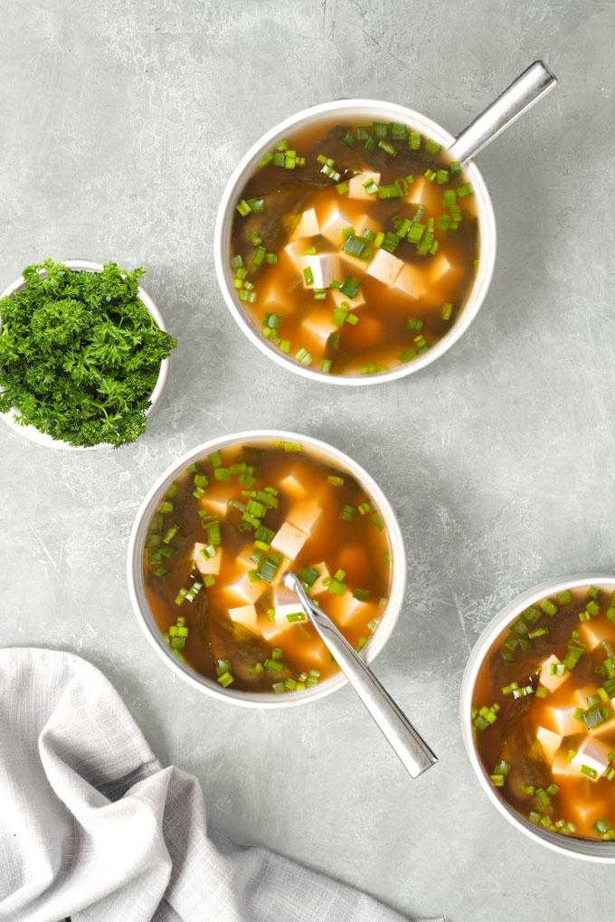 clear soup - miso soup