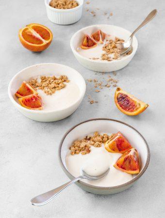 dairy-free yogurt from almond milk - vegan, paleo, keto