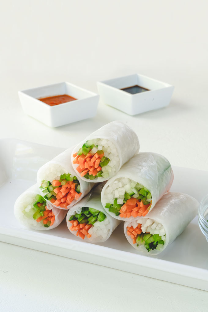Summer Rolls Spring Rolls With Peanut Sauce Nutrition Refined