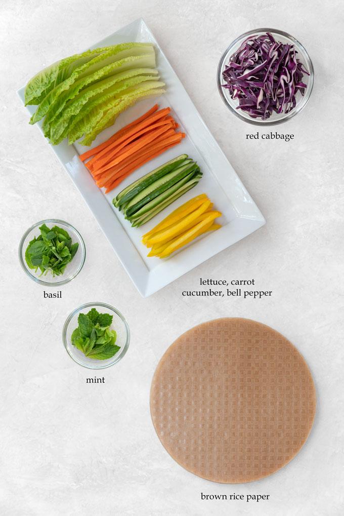 ingredients for summer rolls