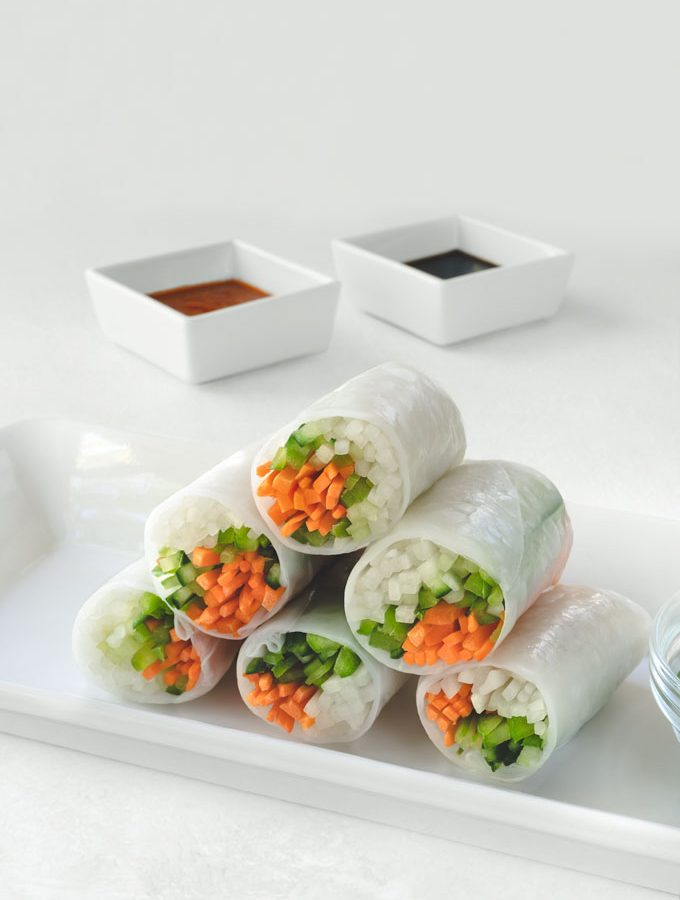 summer rolls with vegetables