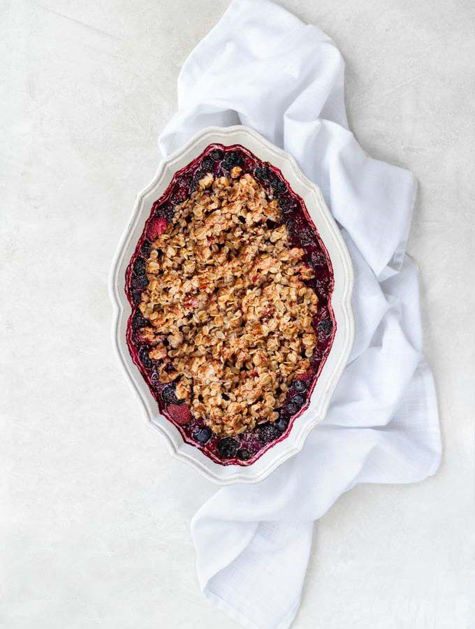 berry crisp - keto, paleo, low-carb, grain-free