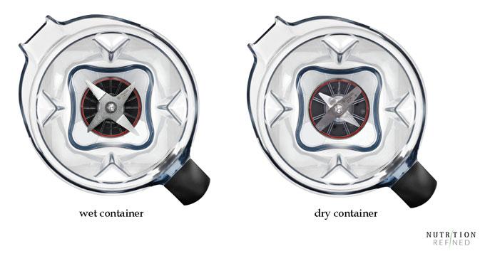 Vitamix wet vs dry container