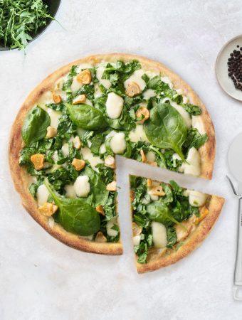 almond flour pizza crust - low-carb, keto, vegan, paleo