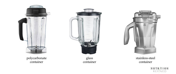 blender containers - polycarbonate, glass, stainless-steel