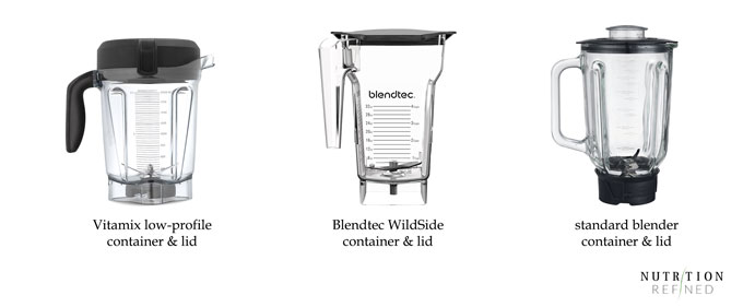 high-speed blender containers and lids