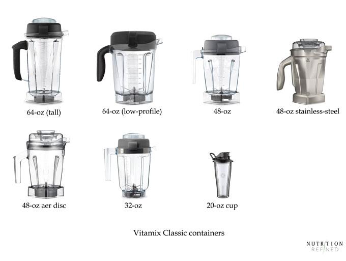 Vitamix classic containers