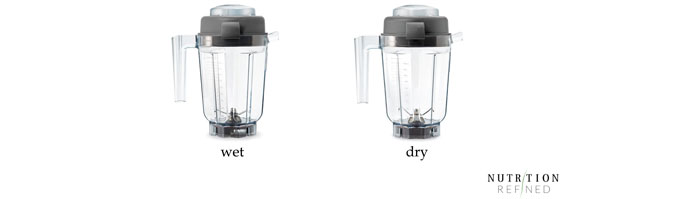 Vitamix wet vs dry container