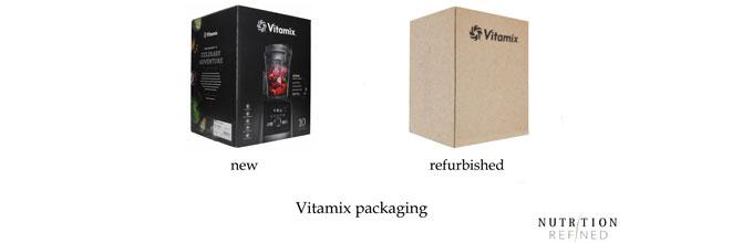 new vs refurbished Vitamix packaging