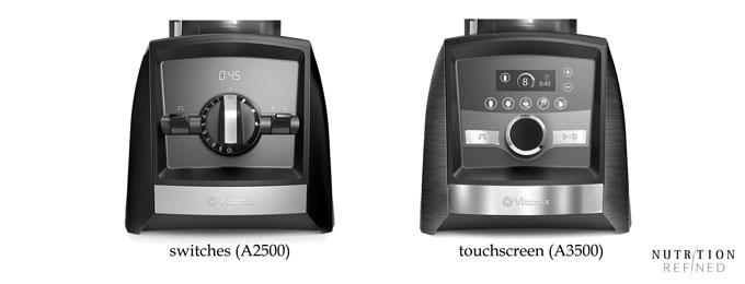 Vitamix control panel - touchscreen vs switches
