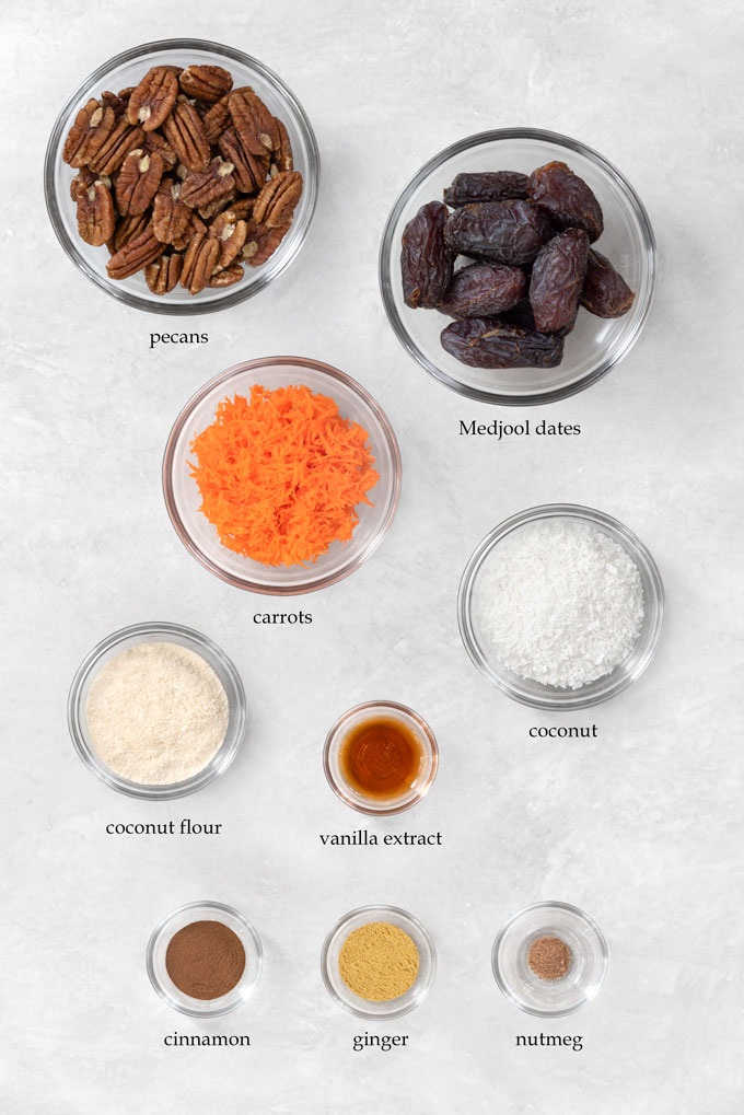 carrot cake bites ingredients