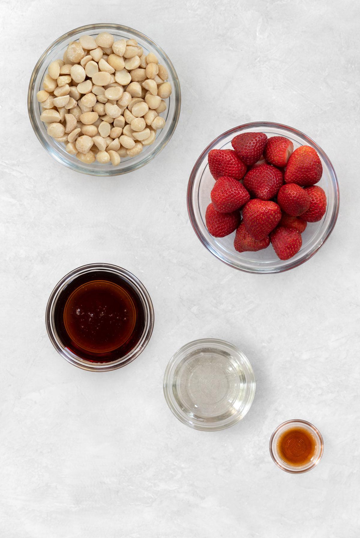 no-bake strawberry cheesecake filling ingredients