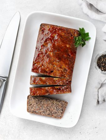 bean loaf with glaze - vegan, gluten-free